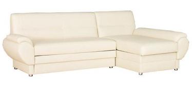 Bodzio Livonia Right Corner Folding Sofa Eco Leather Cream