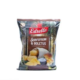 Bulvių traškučiai Estrella, baravykų ir grietinės skonio, 180 g