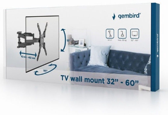 Gembird WM-60RT-01 TV Wall Mount 32-60""