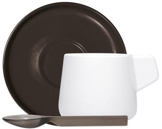 ViceVersa Set 2 Coffee Cups With Spoons Black