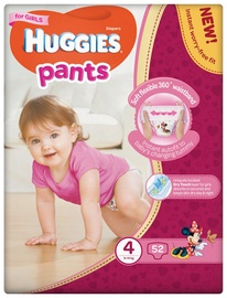 Sauskelnės Huggies Pants Girl, 4 dydis, 52 vnt.