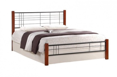 Halmar Viera 120 Bed 125x206cm Ant Cherry/Black
