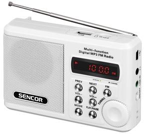 Kaasaskantav raadio Sencor Pocket Receiver SRD 215 White