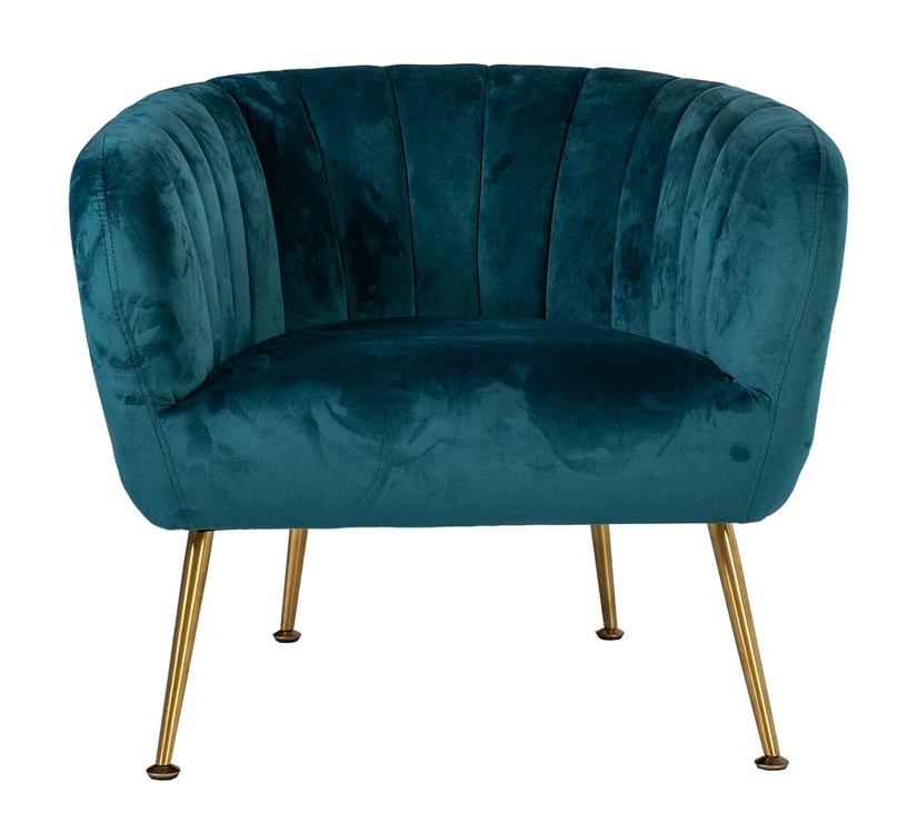 Fotelis Home4you Tucker Sea Blue, 78x71x69 cm