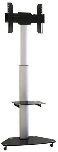 Techly Mobile Stand For TV LCD/LED/Plasma 37''-70'' Silver/Black