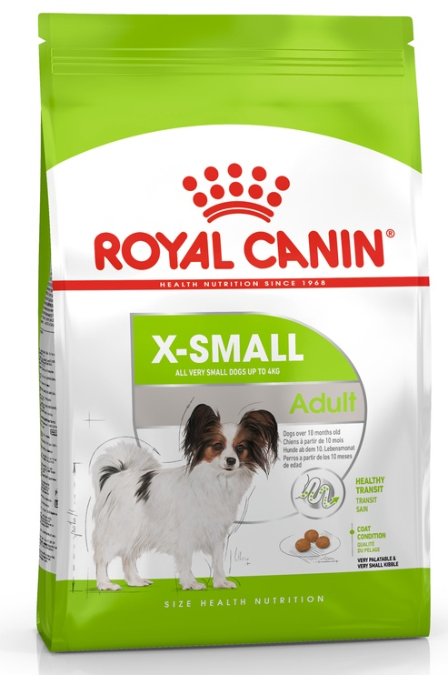 Sausas ėdalas šunims Royal Canin X-Small Adult, 500 gr