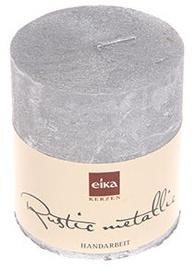 Eika Rustic Metallic 8x7cm Silver