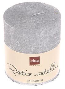 Свеча Eika Rustic Metallic 8x7cm Silver