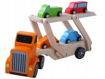 EcoToys Wooden Truck Tire With Cars