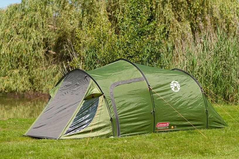Trīsvietīga telts Coleman Tasman 3 2000012154, zaļa/pelēka