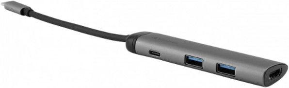 USB-разветвитель (USB-hub) Verbatim USB-C 3.1 4-Port USB Hub Gray