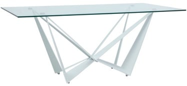 Signal Meble Table Aston II White/Transparent Glass