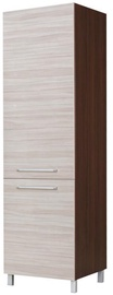 Köögikapp Bodzio Loara Refrigerator Cabinet Right Latte/Nut, 600x590x2070 mm