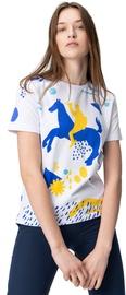 Audimas Womens Short Sleeve Tee White Blue Printed L