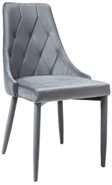 Стул для столовой Signal Meble Trix Velvet Gray, 1 шт.