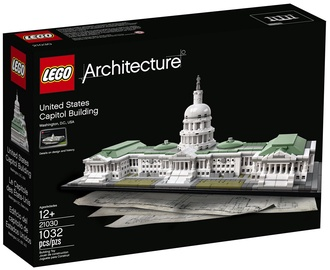 Konstruktor LEGO Architecture United States Capitol Building 21030 21030, 1032 tk