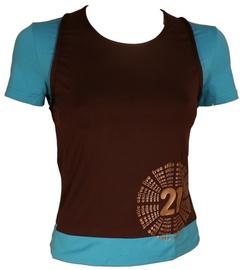 Bars Womens T-Shirt Brown/Blue 137 M