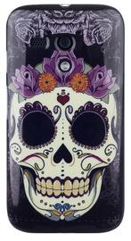 Zooky Silicone Back Case With Skulls Art Design Motorola Moto G