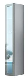 Seinariiul Cama Meble Vigo 180 Glass Case White/Grey Gloss