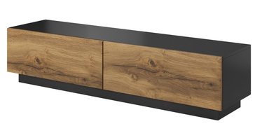 TV galds Halmar Livo RTV 160S Antracite/Votan Oak, 1600x400x380 mm