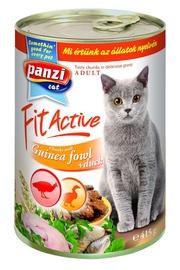 Konservuotas ėdalas katėms Fit Active Adult ,su paukštiena, 415 gr