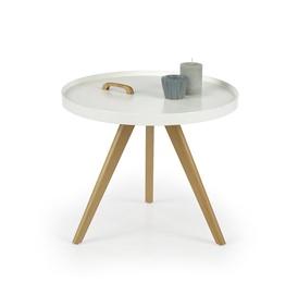 Kavos staliukas Luka baltas, 55 x 55 x 45 cm