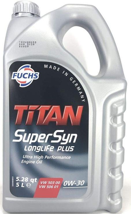 Motoreļļa Fuchs Titan Supersyn Longlife Plus 0W - 30, sintētiskais, vieglajam auto, 5 l
