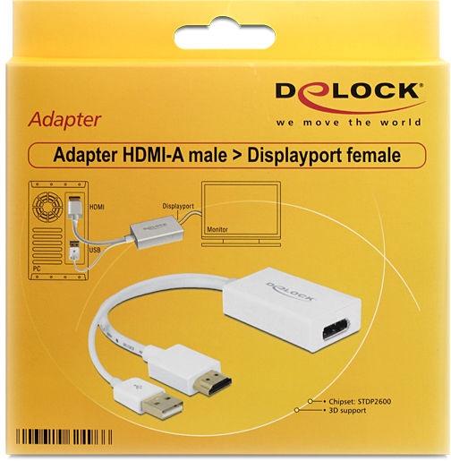 Delock HDMI-A Male to DisplayPort Female Adapter