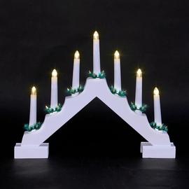 Jõulu LED küünlajalg, 7 LED, valge