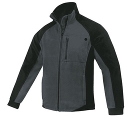Fleece Work Jacket Black/Grey XXXL
