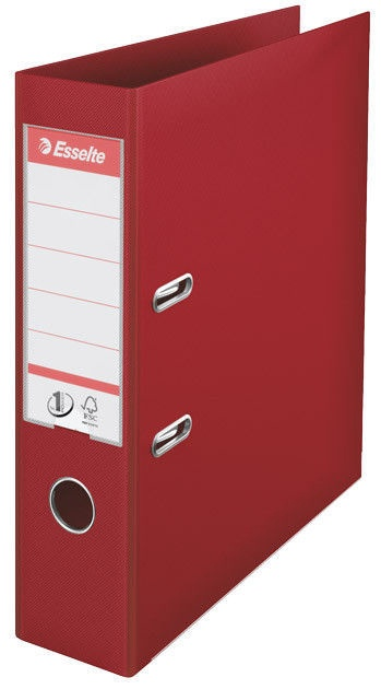 Esselte Folder No1 Power 7.5cm Burgundy