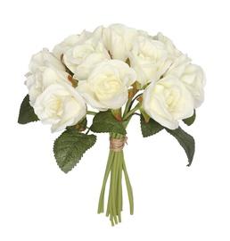 Kunstlik roosikimp, valge, 12 tk