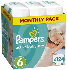 Pampers Active Baby-Dry S6 124