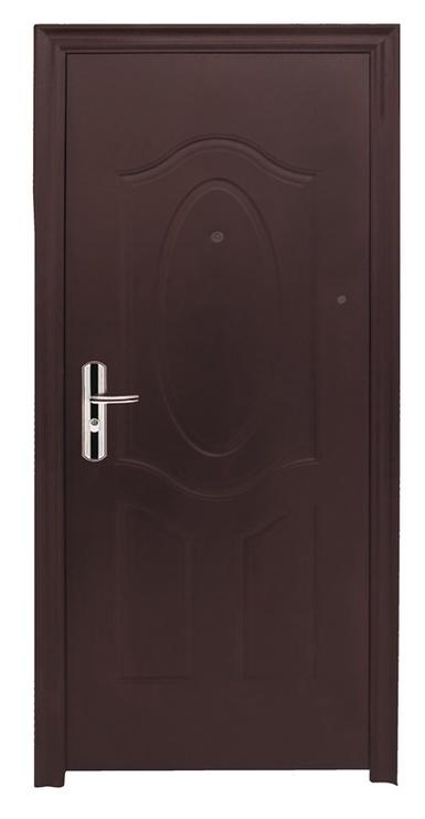 Plieninės vidaus durys JC32, rudos, dešininės, 205x86 cm