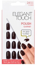 Elegant Touch Polished Garnet Acrylic Press-On False Nails 308 Short Length