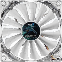AeroCool Shark White Edition PC Fan 120mm AEROSF-12GW