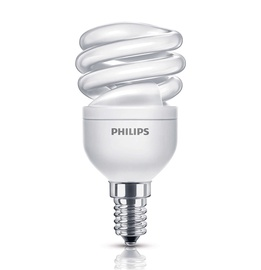 Kompaktinė liuminescencinė lempa Philips T3, 8W, E14, 2700K, 400lm
