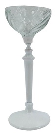 Home4you Eva Candlestick 28cm Clear/White