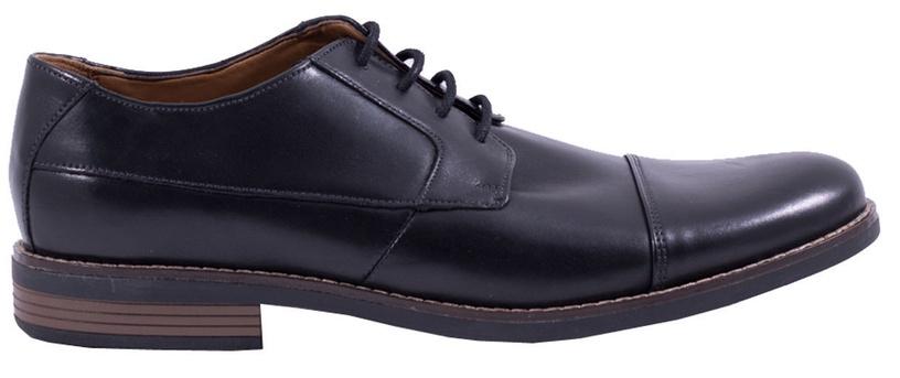 Clarks 261231398 Becken Cap Leather Shoes Black 46