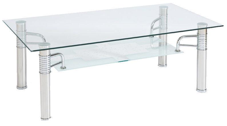 Kafijas galdiņš Signal Meble Modern Reni B Transparent, 1200x650x550 mm