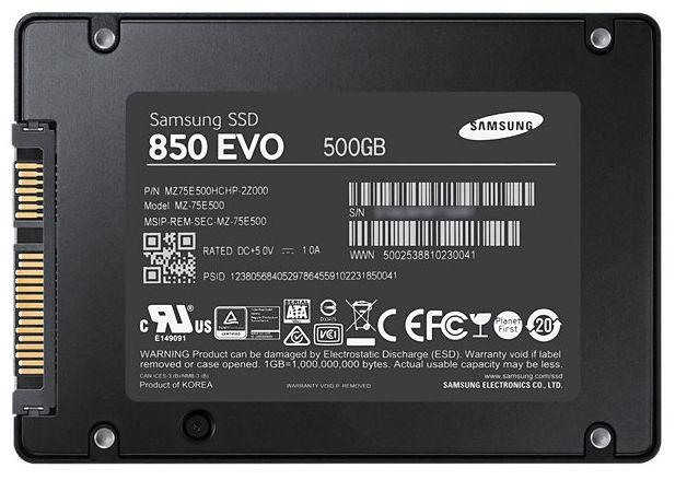 Samsung SSD 850 EVO 500GB SATA III MZ-75E500B/EU