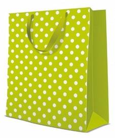 Paw Decor Collection Gift Bag Dotsy Check Kiwi 26.5x13x33.5cm