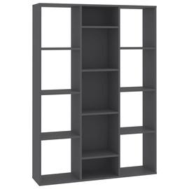 Kontorikapp VLX Room Divider/Book Cabinet 800443, tumehall, 24x100x140 cm