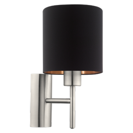 Eglo Pasteri Wall Lamp 60W E27 95052 Black/Copper