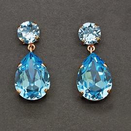Diamond Sky Earrings Crystal Drop IV With Swarovski Crystals