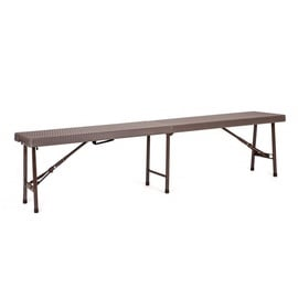 Verners Saravak Folding Steel Bench Brown