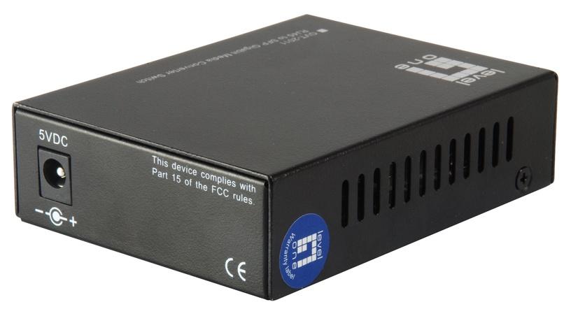 LevelOne RJ45 To SFP Gigabit Media Converter Switch GVT-2011