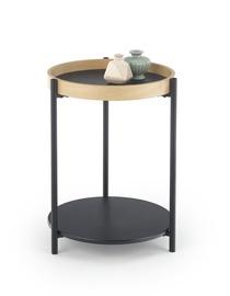 Kavos staliukas Rolo juodas/ąžuolo spalvos, 44 x 44 x 55 cm