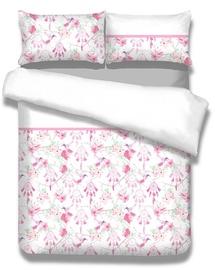 Gultas veļas komplekts AmeliaHome Snuggy, balta/rozā, 155x220/80x80 cm