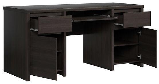 Rašomasis stalas Black Red White Kaspian BIU2D2S/160, juodas